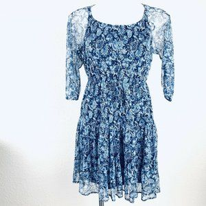 NY Collection Blue White Women Dress. Size PS. New